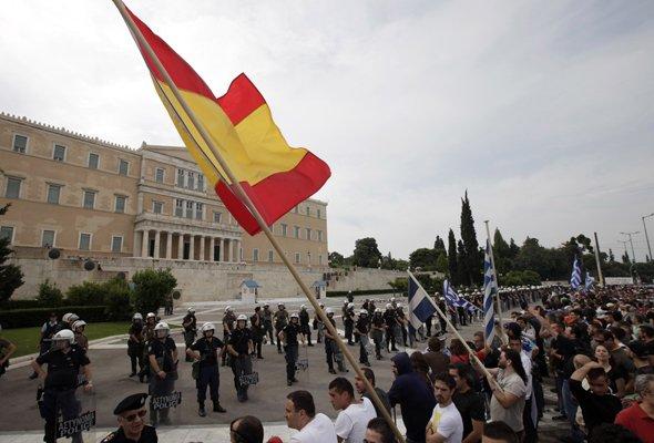Ισπανοί διαδηλωτές στην Ελλάδα - analyst.gr