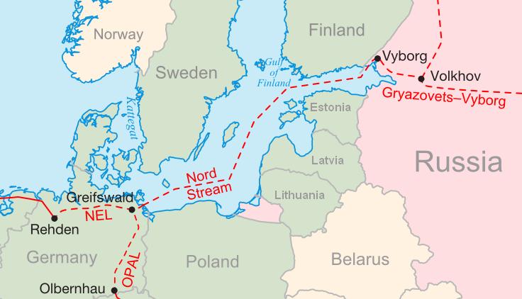 ΧΑΡΤΗΣ - Αγωγός Nord Stream, Ρωσία
