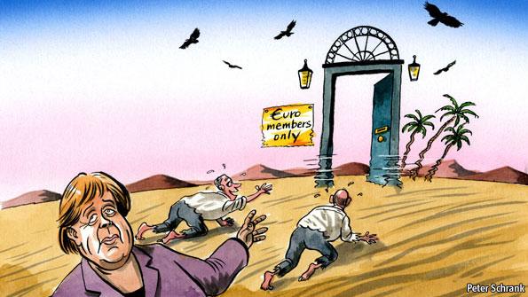 ΕΙΚΟΝΑ - Ευρωζώνη, Ευρώ, Μέρκελ Η χρεοκοπία της Ευρωζώνης