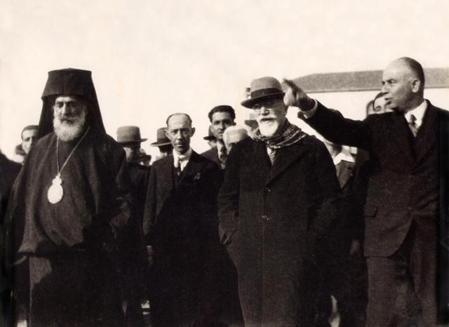 1932: Εγκαίνια Ιατρείου, Συσσιτίου και Γυμναστηρίου του  Συλλόγου Κωνσταντινουπολιτών από τον Ελευθέριο Βενιζέλο και  τον Μητροπολίτη Αμασείας Γερμανό Καραβαγγέλη